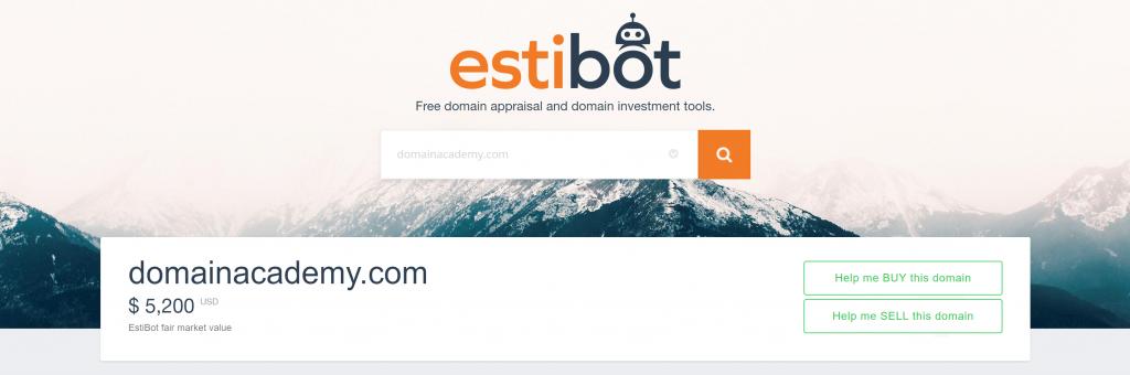 Estibot Bewertung DomainAcademy.com