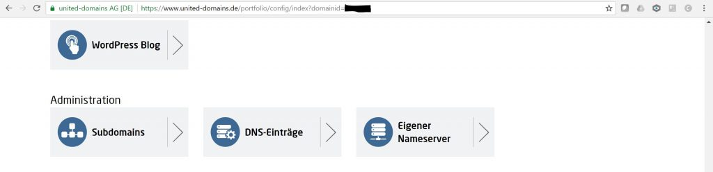United-Domains.de: Konfiguration einer Domain