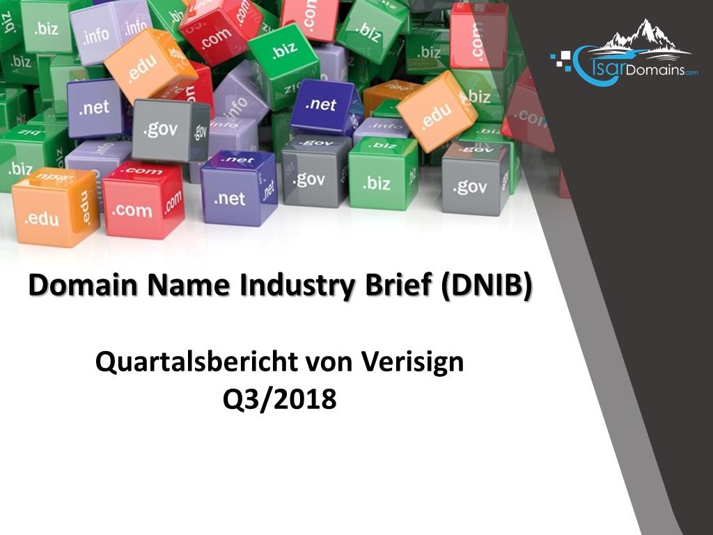 Domain Name Industry Brief Für Q32018 Veröffentlicht Domainhandel